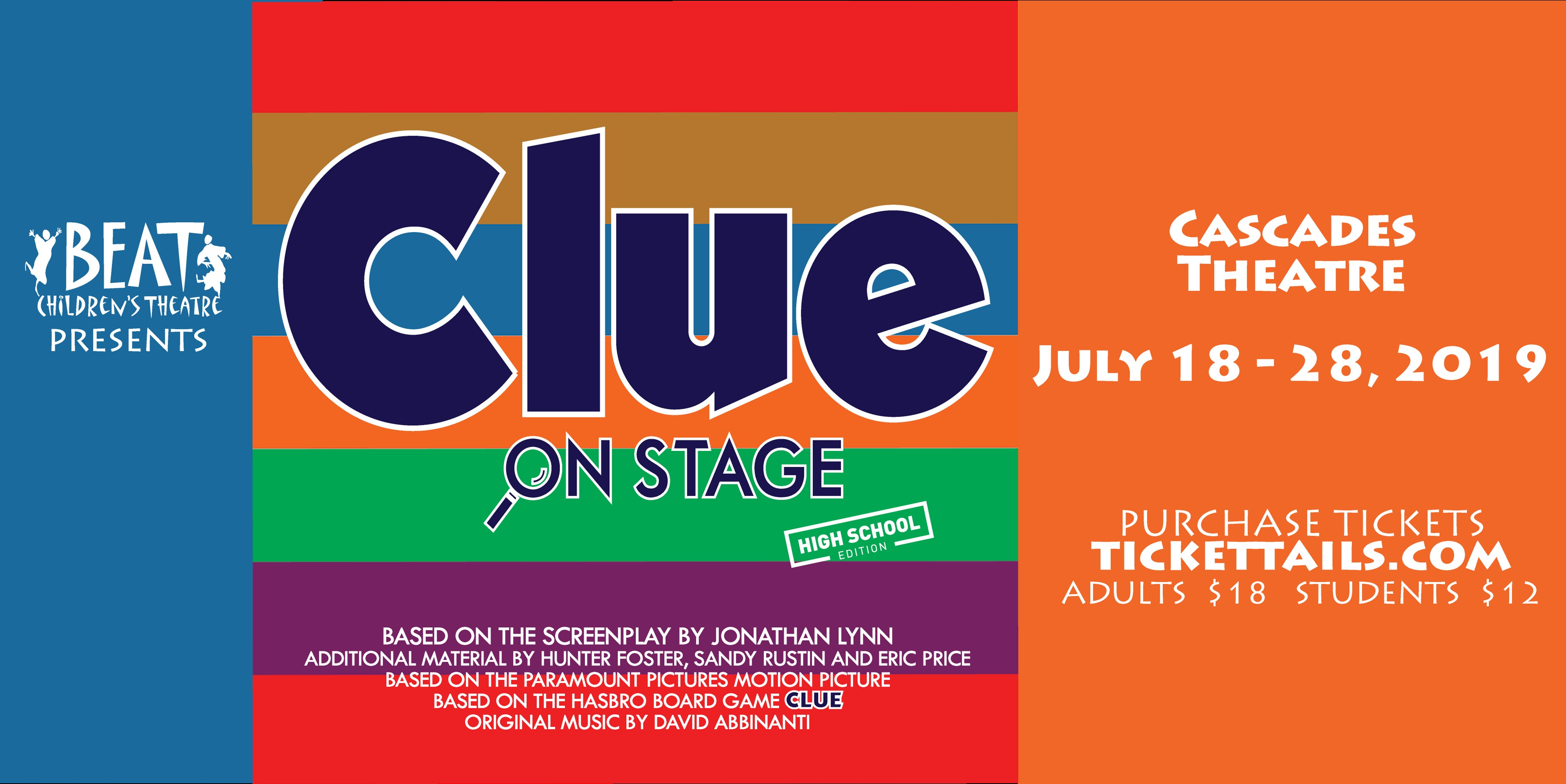 Clue tickets on sale  now!